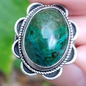 Navajo royston turquoise sterling silver ring